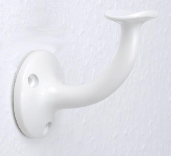 """Handlaufhalter Handlaufträger Stiegengriffhalter aus Alumium """"weiß, pulverbeschichtet"""""""