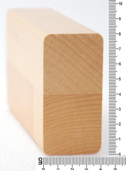 rechteckiger Handlauf Kiefer, 40x60mm